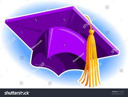 purple graduation cap purple graduation cap stock vector 3114086