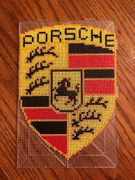 porsche logo porsche logo perler beads by mykatfluffy on deviantart