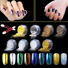 amazon com elite99 mirror effect nail chrome powder chameleon