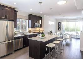 large kitchen designs single single line kitchen with island on