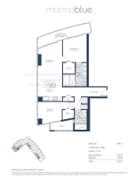 marina blue condos 888 biscayne blvd miami fl 33132 marina blue floorplan model b5a