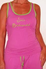 personalized bridesmaid pajamas