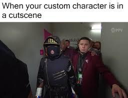 Meme Custom - when your custom character is in a cutscene floyd mayweather vs