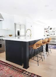 black kitchen island home tour a hip couple s fresh california bungalow california