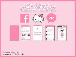 facebook themes and skins for mobile pink hello kitty facebook feat messenger android by ladypinkilicious