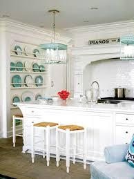 white kitchen with blue accents kitchens pinterest