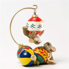 mice on ornaments charming tails figurine