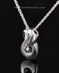 locket for ashes everlasting sterling silver infinity cremation jewelry keepsake