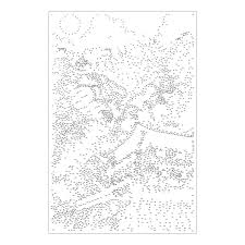 extreme dot to dot 7 poster set famous destinations animal
