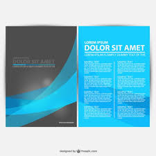 blue and black brochure template vector free download