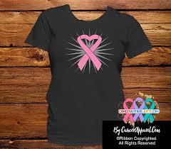 ribbon shirt breast cancer awareness heart ribbon shirts cancerapparelgifts