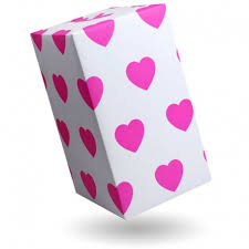 pink gift wrap gift wrap big pink hearts on white