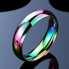 titanium colored rings images 2018 brand new unisex arc en colored titanium steel ring intershoppy png