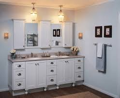 Light Blue Bathroom Paint by White Bathroom Design Using Double White Wood Bathroom Vanity