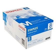 staples multiuse copy paper 8 1 2 x 11 8 ream staples