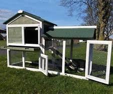 Ferret Hutches And Runs Double Rabbit Hutch Pet Supplies Ebay