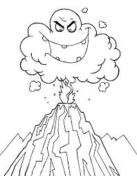 deadly ash cloud in volcano eruption coloring page netart
