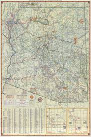 Az City Map 1957 Road Map Of Arizona Phoenix