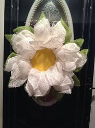 deco paper mesh 122 best flower shaped wreaths images on summer wreath