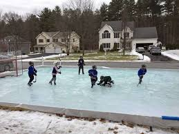 backyard hockey rinks range from simple to elaborate new haven