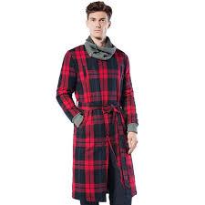robe de chambre hommes robe de chambre feu anglais pour homme lepeignoir fr