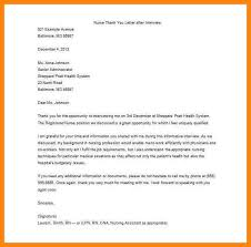 sample thank you letter after rn interview cover letter templates
