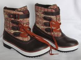 ugg s decatur boots brown ugg nordic snowflake lace buckle lined leather textile decatur