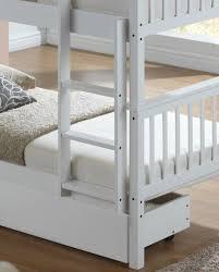White Wooden Bunk Bed White Wooden Bunk Bed