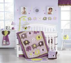 girls nursery bedding sets purple elephant crib bedding decorating elephant crib bedding