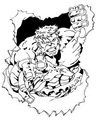 strong incredible hulk breaking rock coloring hulk ironman
