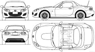 miata drawing the blueprints com blueprints u003e cars u003e mazda u003e mazda mx5 miata