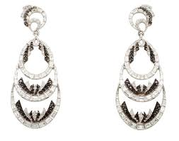 white gold chandelier earrings these white gold and diamond earrings by deborah pagani