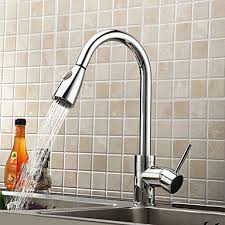 kitchen faucets pull solid brass pull kitchen faucet chrome finish
