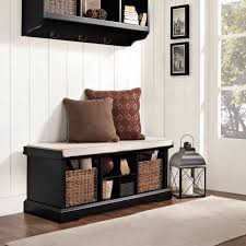 Storage Bench With Cushion Bench Cubby Bench With Cushion Ameriwood Furniture Penelope