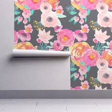 683 Best Pattern Wallpaper Textiles by Watercolor Floral Wallpaper Blush Grey By Indy Bloom Design