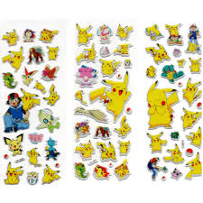 sticker notebook picture more detailed picture about 3 sheets 3 sheets cartoon anime pokemon stickers for kids rooms home decor diary notebook label decoration toy