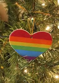 pride christmas ornament lgbt gift by newpridedesigns