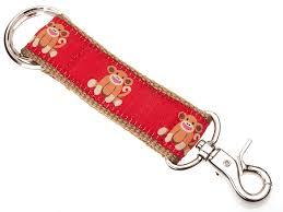 monkey ribbon douglas paquette sock monkey ribbon key chain