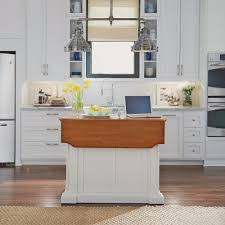 Americana Kitchen Island by Kitchen Island White And Distressed Oak Finish Homestyles