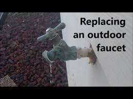 Exterior Water Faucet Replacing A Leaking Faucet How To Replace An Outdoor Faucet