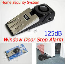 window door stop alarm 3 mode home security system anti