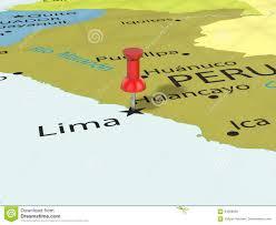 Lima Map Pushpin On Lima Map Stock Illustration Image 94569636