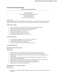 Resume For Analyst Position Technical Analyst Resume Technical Analyst Resume Business