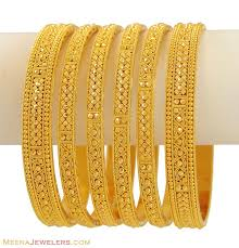 gold bracelet set images 22kt indian bangles set of 6 gold kadas pinterest indian jpg