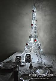 Eiffel Tower Decoration A Paris Themed Valentine U0027s Dinner Celebrate U0026 Decorate