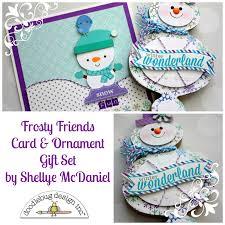doodlebug design inc frosty friends ornament card