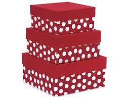 polka dot gift boxes polka dot nested boxes large 3 square gift boxes nb3lpdr