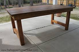 pottery barn counter height table diy pottery barn inspired dining table the happier homemaker