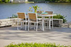 Aluminum Dining Room Chairs Outdoor Euro Dining Side Chair Polywood Modern Aluminum Outdoor