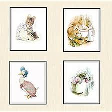 amazon 4 beatrix potter print reproductions unframed
